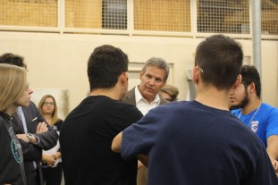 Governor Lee speaks with Career and Technical classes